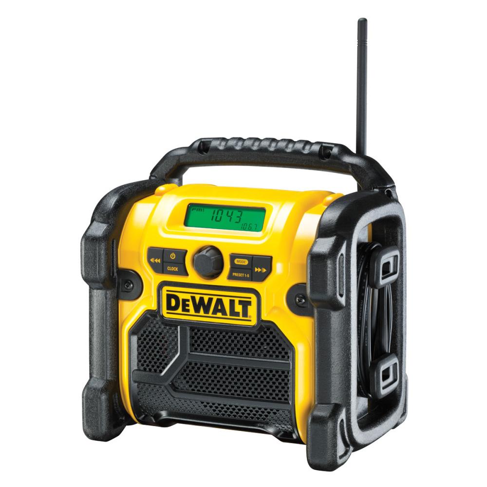 DEWALT DCR020 Aku rádio XR Li-Ion 10,8 - 18 V + 220V + USB nabíječka (bez aku)